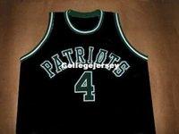 черные патриоты джерси оптовых-Дешевые мужские CHAUNCEY BILLUPS патриотов средней школы Джерси черный новый любой размер XS-5XL ретро баскетбол трикотажные изделия