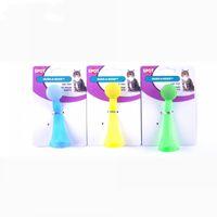 boules en plastique couleurs achat en gros de-Pet Flash Jumping Ball Creative Trois Couleurs En Plastique Chat Jouets Élastique Bouncy Balls Jaune Vert Bleu 4 3yk B