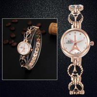 Wholesale wholesale watchs - Ladies Quartz Watch Bracelet Watch Simple Retro Design Webbing Quartz Rose luxury brand Wrist Watchs gift 12.16