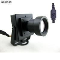 миниатюрная линза оптовых-Новое прибытие мини CCTV камеры высокого разрешения Sony Effio-E 700TVL 25 мм доска объектив безопасности коробка цвет CCTV камеры