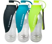 Wholesale outdoors resale online - Pet Dog Accompanying Cups Outing Supplies Outdoor Water Drinking Device Portable Kettle Pet Supplies Black Green Blue Pink Orange