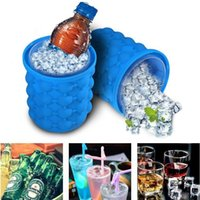 Wholesale blue tongs for sale - Group buy 13 cm Silicone Ice Cube Ice Bucket Revolutionary Space Saving Ice Genie Kitchen Tools for Chilling Beverage I237