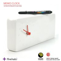 Wholesale tracing tables - 1Piece Trace of Time clock Memo Desk Clock Personal Message Board Table How Decor