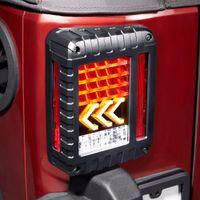 fren meclisleri toptan satış-Avrupa Sürüm LED Kuyruk Işıkları 2007-2017 Jeep Wrangler JK Için Fren Yedekleme ile Ters Sarı Ok Dönüm Sinyali Işık Kuyruk Lambası Meclisi