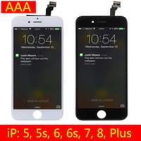 cadres iphone 5s achat en gros de-Pour iPhone 6 iPhone 6 Plus Digitizer Ecran Tactile de Remplacement Ecran LCD de remplacement avec Assemblage Complet pour iPhone 5 5s