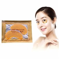 Wholesale mask dark for sale - Hot Selling Collagen Crystal Eye Masks Anti puffiness moisturizing Eye masks Anti aging masks collagen gold powder eye mask