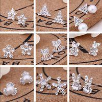 brincos de jóias da moda coreana venda por atacado-62 pares / lote, 45 estilos Coreano Criativo Moda brincos de diamante Nova Pérola Do Parafuso Prisioneiro Brincos venda Quente acessórios de jóias por atacado brincos