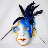Wholesale full venetian masks for sale - Group buy Venice Mask Halloween Female Mask Personality Gifts Clown Masquaerades Italy Style Venetian Full Face Masks for Party Wedding Nightclub