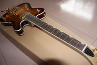 elektrische jazzgitarre f löcher großhandel-HEISSE doppelte F-Loch TELE JAZZ-E-Gitarren-Gewohnheit, Fabrik-Direktverkauf, kann eine große Anzahl der Gewohnheit sein, schön