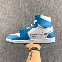 Wholesale Martial Arts Universities - The 10 Retros 1 OG High UNIVERSITY BLUE BLANC men basketball shoes Air 1s women sports shoes trainers sneakers with box and zip tie