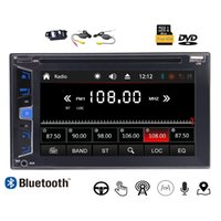 Wholesale wireless button camera usb - Wireless Camera+Double 2Din Car DVD Player Stereo Radio 6.2''Bluetooth GPS SAT NAVI Headunit USB AUX 7 Color Button 8G Map &Remote Control