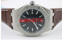 relógio de pulso venda por atacado-Relógio de luxo Relógio De Pulso Marrom Pulseira De Couro 0riginal Clasp Bezel 0ffshore Automático Mens Watch Relógios Dos Homens