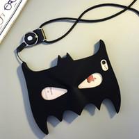 Wholesale Black Mask Batman - Case For iPhone X Fashion Cute Japanese Cartoon Batman mask hero Protective Silicone Case for Apple iPhone 6S Plus
