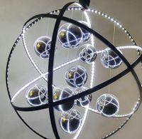 Wholesale decorative iron works - Free freight Post-modern Pendant Lights European Glass Ball Decorative Lights LED Wrought Iron Pendant Lights LLFA