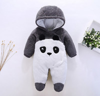 Wholesale baby penguin clothing for sale - Group buy New Autumn winter baby Clothes newborn jumpsuit infant cotton thick overalls baby warm rompers penguin animal style