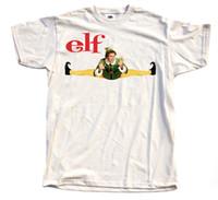 calças vermelhas camisas amarelas venda por atacado-Elf V3, Movie Poster, 2003, Camiseta de Natal (Branco Natural Amarelo) S - 3xl Mens Pride Dark? T-shirt Branco Preto Cinza Vermelho Calças