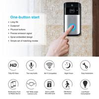 zeki kapı zili toptan satış-Akıllı WiFi Güvenlik Kapı Zili kamera Görsel Kayıt Düşük Güç Tüketimi Uzaktan Ev Izleme Gece Görüş Görüntülü Kapı Telefonu