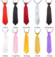 100Pc Baby Boy School Wedding Elastic Neckties neck Ties-Solid Plain colors 30 Child School Tie boy