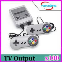 Wholesale nes mini controller resale online - 100PCS Super MINI TV Vedio Handheld Console Family Game Player For Child SFC Games With Controller Joysticks Via DHL YX SFC