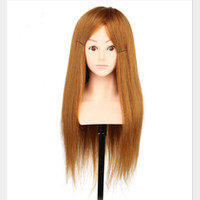Wholesale T cheap mannequin head shoulder hair cm g human hair training head with shoulder for