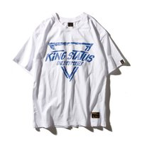 Wholesale Mens Blouse Shirts - Three Color Mens Loose Triangular Printing T-shirt High Street Skateboard Couple Loose Short-Sleeved Summer Blouse Shirt