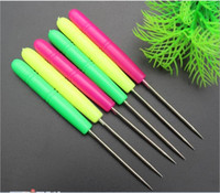 Wholesale Free Sewing Pattern - Free Shipping! Stainless Steel & Plastic Handle Awl Mixed For Sewing & Pattern Making 14cm,20PCs Lot (B26957)