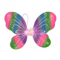 Wholesale black cosplay wings online - New Colorful Girls Fairy Butterfly Wings Show Props Fancy Kids Halloween Party Dressing Up Cosplay Costume Accessories x cm