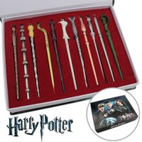 Wholesale toys trick box - 11PCS Set Harry Potter Magic Wand Set Creative Magic Tricks Kids Toys Halloween Cosplay Performance Props Gift Box Packing KKA4864