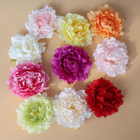 Wholesale Bouquets Peonies - 6 Inch Artificial Peony Flowers Silk Flower Decorative Flowers Fake Peony Heads For Home Party Decorations Wedding Decoration EMS Free Ship