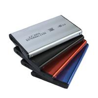 usb harici sabit disk muhafazaları toptan satış-Etmakit Yüksek Hızlı SATA 2.5 inç USB 2.0 Harici HDD Sabit Disk Sürücüsü HD Muhafaza / Kutu Kutusu SATA Sabit Disk Muhafaza