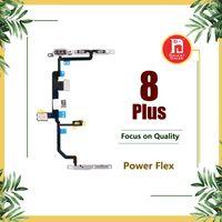 verriegelungsbügel großhandel-Für Apple iPhone 8 Plus Power Flex-Band mit Metallplatten-Verriegelungshalterung Lautstärke Power OnOff-Steuerschalter-Anschluss Flex Repair Ersatz