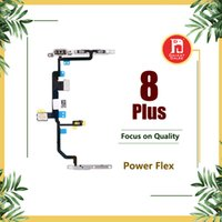 Wholesale ribbon plates wholesale - For Apple iPhone 8 Plus Power Flex Ribbon with Metal Plate Lock Bracket Volume Power OnOff Control Switch Connector Flex Repair Replacement