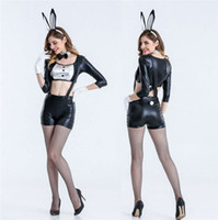Wholesale 2018 Sexy Bunny Costume Women Cosplay for Adults Sexy Halloween Costumes for Women Set Rabbit Halloween Clothing