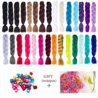 Wholesale two tone synthetic braiding hair - VERVES Kanekalon Jumbo Ombre Braiding Hair braid 100g piece Synthetic Two Tone High Temperature Fiber Braid extentions