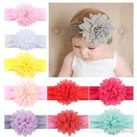 Wholesale baby head belt - children DIY chiffon head hair belt Fashion flower children hair belt baby hair accessories soft flower head belt KHA376