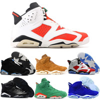 Wholesale increase ring - Best 6 Basketball Shoes Men Women Wheat Black Cat Infrared 6s VI Rings Gatorade UNC Carmine Harvest Alternate Authentic Sport Sneakers Cheap