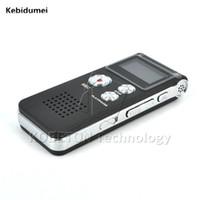 dijital disk sürücüsü toptan satış-Kebidumei 8 GB USB Flash Kalem Disk Sürücü 3D Stereo MP3 Çalar Grabadora Gravador Dijital Ses Kaydedici 650Hr Dictaphone