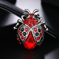 Wholesale Kids Hats China - 12PCS Vintage Red Ladybug Brooches For Woman Kids Suit Hats Scarf Beatles Brooch Clip Pins Insects Jewelry Small Size Corsage