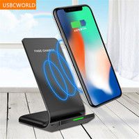 Wholesale Faster Apple - Qi Fast Wireless Charger Qualcomm Quick Charge 2.0 Wireless Charger For IPhone 8 8P X Samsung S8 S8Plus S7 S6 Note 8