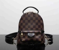 Wholesale Cover School - Fashion Luxury Brand PU Leather Backpack Style High Quality New Arrival Designer Backpack Letter Bags Fashion Women Men School Bags &