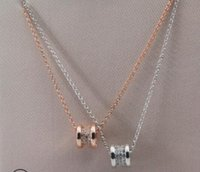 Wholesale gold waist necklace chain resale online - S925 Sterling Silver rose gold necklace slim waist classic for women girls New fashion free of shipping