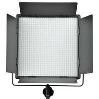 Wholesale Led Lights Panel Video - Godox LED1000 4400Lux Dimmable White Yellow Photography Studio Video Led Panel Lighting With Remote Control for Camera Camcorder