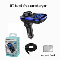 Wholesale usb bluetooth device - dual usb fast car charger kit traval power adapter 5V 3.1A hand free bluetooth 4.2 mp3 music player FM transmitter multi-function device