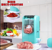 Wholesale Meat Mincer Machine - Multifunction Meat Grinder Hand Blade Manual Mincer Machine Pork Beef Pepper Grinder Sausage Maker Kitchen Accessories KKA4554