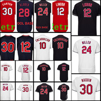 Wholesale baseball joe - Cleveland 10 Edwin Encarnacion 30 Joe Carter Jersey Men stitched Baseball Jerseys Cheap wholesale Free Shipping