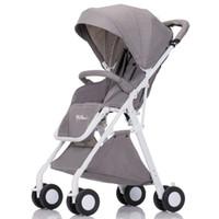 en hafif hafif araba toptan satış-Bebek arabası oturan olabilir katlanmış küçük süper hafif taşınabilir uçakta yüksek peyzaj el şemsiye arabası