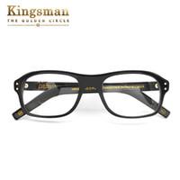 Wholesale Read Orange - Kingsman glasses frames men For Colin Firth reading glasses With Acetate Handcrafted eyeglasses frame