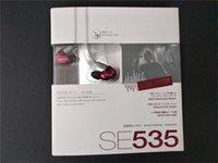 ohr kopfhörer kleinpaket großhandel-Shure SE535 In-Ear-HIFI-Kopfhörer mit Noise Cancelling-Kopfhörer Freisprechkopfhörer mit Kleinpaket LOGO Bronze