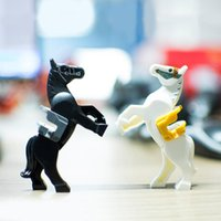 Wholesale Knight Toy - 25pcs lot Horse with Saddle Mini Building Blocks Figures Mediaeval Battle Horse Hobbit Super Heroes Space Wars Minifig Knight Horse Toy