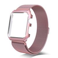 magnetschlaufe apfel uhrenarmband großhandel-Milanese Loop Band Magnetic Schnalle Einstellbare Edelstahl Metal Strap Armband mit Schutzhülle für 42mm 38mm Apple Watch 3 2 1